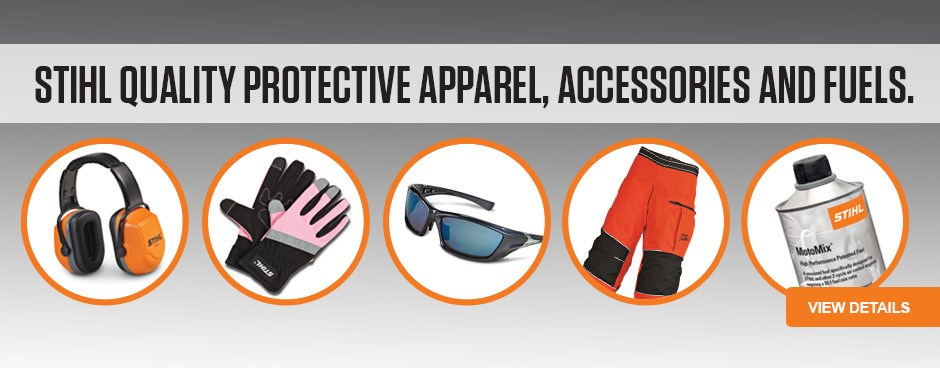 STIHL Protective Apparel, Accessories and Fuels